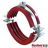 Fischer 63513 Tubi con Guarnizione in Silicone FRSH 89-92 Collare C/GUARNIZ.S-25 Pezzi per Confezione