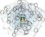 100 Portachiavi Foto in Acrilico Trasparente - Portachiavi Vuota Traslucido 3,2 x 5,4 cm Portachiavi per Portafoglio con Inserti Immagini Personalizzate Portachiavi Plastica Adatto a Donne e Uomini