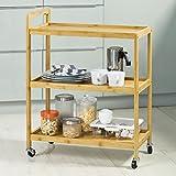 SoBuy® Servierwagen, Küchenwagen, Küchenregal, Rollwagen, Teewagen, ...