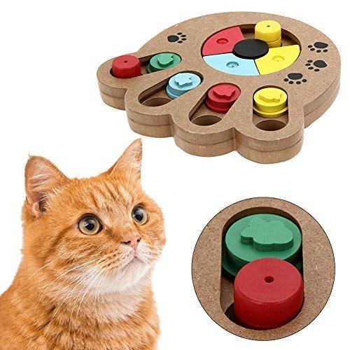 hen Lebensmittel behandelt Holz Haustier Pfote Puzzle Spielzeug für kleine oder mittlere Hunde und Katzen umweltfreundliche interaktive Spaß verstecken (Machen Hund Behandelt)