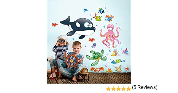 Les Profondeurs Multicolores 02 kina R00195 Stickers muraux pour Enfants imprim/é sur papiers Pein