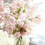 Mitlfuny Unechte Blumen, Künstliche Fälschung Kirschenblüte Seidenblume Bridal Hortensie Home Gartendekor Braut Hochzeitsblumenstrauß für Haus Garten Party Blumenschmuck (B)