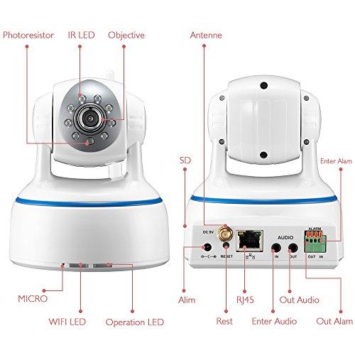 Minidiva Indoor 1080P 2 Megapixel drahtlose WIFI IP-Überwachungskamera – 350 Grad (horizontal) - 5