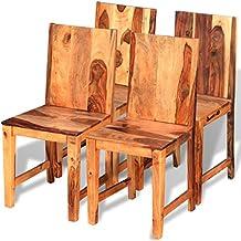 VidaXL Massivholz 4x Küchenstuhl Esszimmerstuhl Stühle Palisander Sheesham  Holz