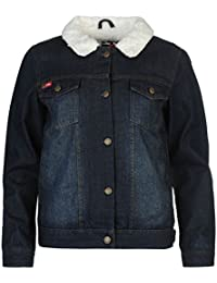 Lee Cooper Lined Denim Jacket Blue – Chaqueta Abrigos Outerwear, azul, UK 10 (Small)