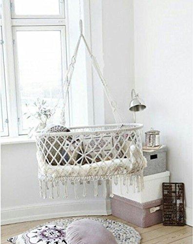 Here&There Baby Wiege Aufhängen Bette Hängematte Wiegen Babywiege Kinderbett Quaste Brasil Comfort Gitterbett Miansheng Webart (A#)