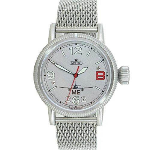 Aristo Reloj de hombre reloj de pulsera Planeador Reloj Me 262rojos 'B' Automatic 3H262de RBM
