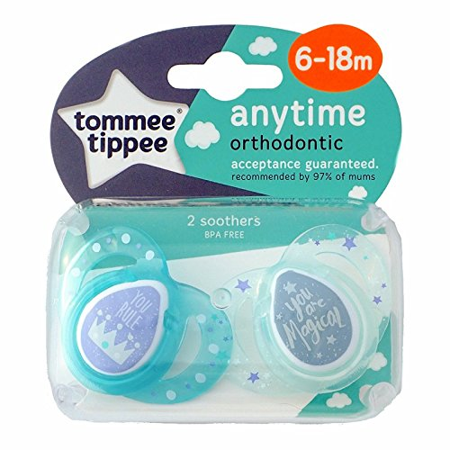 Tommee Tippee Closer to Nature – Moda: 2 x Chupete 6-18 m (You Rule/You Are Magical)