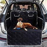 Toozey Volledige kofferbakbescherming voor hond - scheurvast en waterdicht quilted kofferbakdeken hondendeken auto met zijbescherming beschermt de kofferbak en de bumper tegen vuil, krassen en haren, zwart