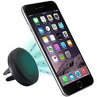 Sannysis Air magnético Soporte de Télefono para Coche de Smartphone para iPhone 6 / 6 Plus / 5 / 5S / 5C / 4 / 4S, Samsung Galaxy S6 / S5 / S4 / Note 4/3, Google Nexus, LG G3 y dispositivo GPS (Negro)
