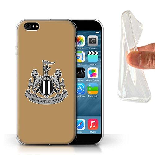 Officiel Newcastle United FC Coque / Etui Gel TPU pour Apple iPhone 6S / Couleur/Rouge Design / NUFC Crête Football Collection Mono/Or
