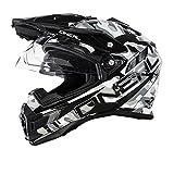 O'Neal Sierra Adventure Helm Sniper Schwarz Weiß Motocross Offroad Enduro MX, 0815-7, Größe Small (55-56 cm)