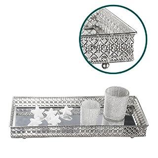 Mirror Glass Tray Deco Candles Mirror Tray Tray Tray Tray ha-001st