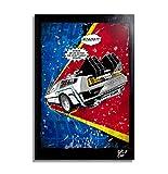Delorean DMC-12 aus Zurück in die Zukunft film (Back to the Future) - Original gerahmt Fine Art Malerei, Poster, Leinwand, Artwork, Druck, Plakat, Leinwanddruck, film, geek, nerd