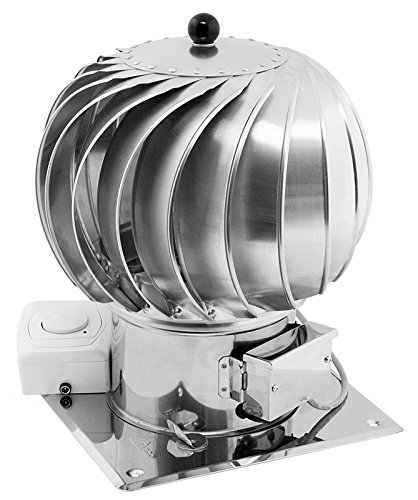 200mm in acciaio INOX rotante spinning ibrido Chimney Cowl motore