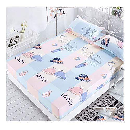 Preisvergleich Produktbild WHS Multi-Size-Bettdecke Schutzhülle Staubdicht Matratzenbezug Einteiliges Bettgarnitur Double Single Anti-Rutsch-Bettlaken (Color : B,  Size : 2.0 * 2.2m)