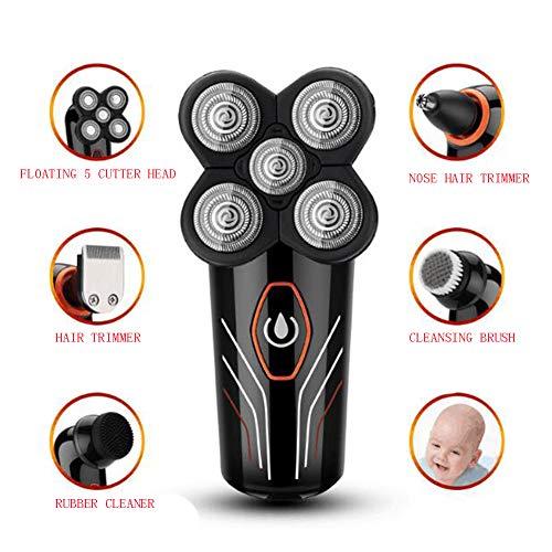Männer Elektrorasierer 4D Wiederaufladbare USB 360 Rotary Rasur Cutter Trimmer Wasserdicht Nass Und Trocken Elektrorasierer 5 Kopf Männer Rotary Shavers