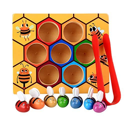 Webla En Bois Enfants Montessori Dossier Éducation Clip Musique Ruche Jeu Début Éducation Puzzle Cognitif Abeille Jouet Boîte Remorque Main Frapper Piano Enfance Jouets Éducatifs Main Harpe