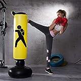 Fitness Sac de Frappe Autonome de Boxe Cible,Gonflable de Boxe autoportant Tour Stand...