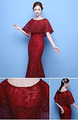 Drasawee - Robe - Moulante - Femme rouge vin