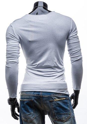 STEGOL Longsleeve T-Shirt Langarm Shirt Sweatshirt Pullover Pulli 546 Weiß