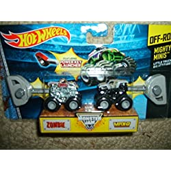 Mattel Y0974 Hot Wheels Monster Jam - Mighty Minis - Monster Mutt and Shocker