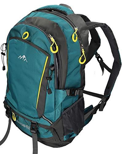 Betz Rucksack Damen Herren Reise und Wanderrucksack Camping Freizeitrucksack Capacity I Vier Taschen Volumen 33 Liter Farbe Petrol
