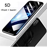 Brand Affairs I Phone X White 5D Round Curved Edge To Edge (Front+Back) Tempered Glass Protective For IPhone X (Ten) (Black)