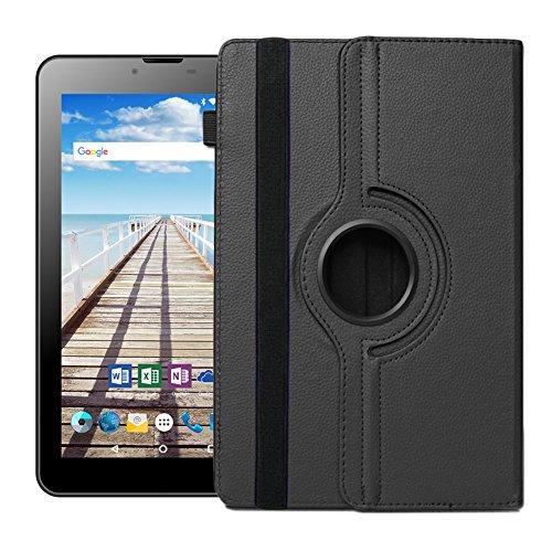 UC-Express Odys Sense 7 Plus 3G Tablet Hülle Tasche Schutzhülle Case Cover 360°, Farben:Schwarz