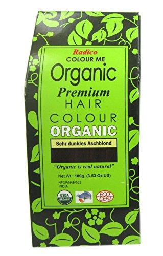 Radico Colour Me Organic Pflanzenhaarfarbe sehr dunkles Aschblond (bio, vegan, Naturkosmetik) SDuAsch