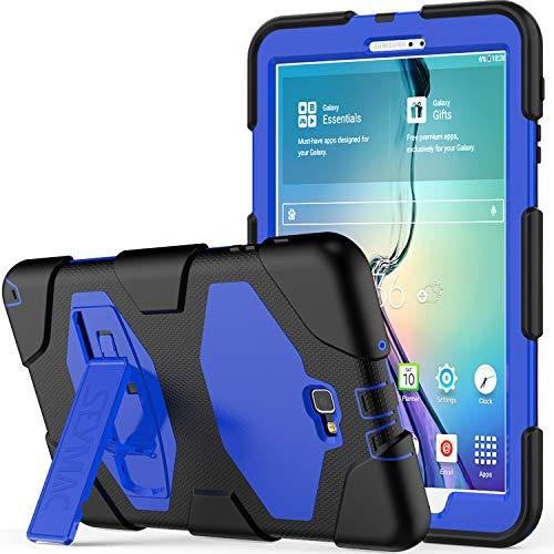 10.1 Hülle - SAYMAC Full Body Robuste-/mit Schutzhülle, Bumper-Hülle mit Ständer für 2016 Samsung Galaxy Tab A6 Tablet-/sm-t580 sm-t585, S Pen-Version blau schwarz/blau ()