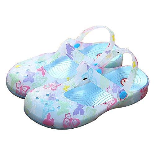 Eastlion Weibliche Sommer Sandalen Verfärbungs Sandalen Dicke Untere Hole Schuhe S1 Blau