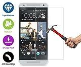 ZeWoo Display Glas Panzerfolie für HTC One Mini M4 (2013, 4,3 Zoll) Glasfolie Hartglas Schutzfolie 9H *2.5D, nur 0,33mm dünn