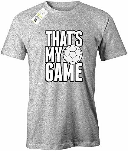 THAT´S MY GAME FUSSBALL - HERREN - T-SHIRT Grau Meliert