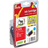 Inkrite Printer Ink for Canon MP620, MP630, MP540, IP4600, IP3600 - CLI-521C Cyan - NGSCC521UWC