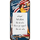 Nostalgic-Art 84032 USA - American Diner Waitress, Notizblock-Schild 10x20 cm