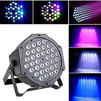 LED Stage Light Effect UP Lighting 36 RGB Show DMX Strobe Lamp for Disco DJ Bar Club Projector Party -LQCN,Black,2PCS