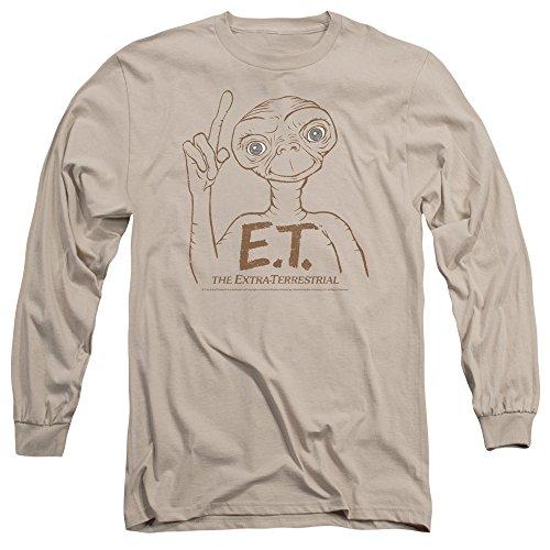 ET - Et - Männer Mit dem Finger zeigen Langarm-T-Shirt Sand