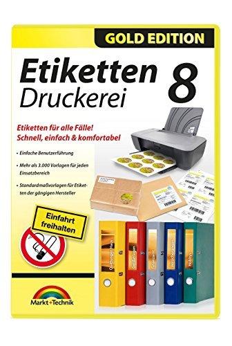 Etiketten Druckerei 8 - Jahr-etiketten