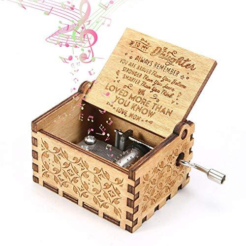 Descripción del producto: Nuestra caja de música de madera tiene un delicado y compacto patrón antiguo de la caja. Al agitar el mango, la música puede fluir a través del mecanismo de 18 notas de la esfera, la melodía es hermosa. La caja de música no ...