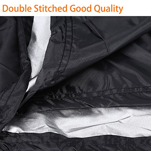 Waterproof Barbecue Cover 30-Inch Kettle BBQ Grill Cover Round Outdoor Garden Patio Grill Protection with Drawstring…