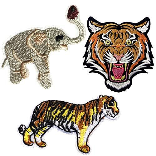 nde Bengal Gestreifte Tiger Patches Zum Aufbügeln Stickte Abzeichen Eisen Auf Nähen Sie Auf Flecken ()