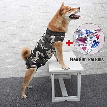 Dog Surgical Recovery Suit Bauchwundenschutz, After Surgery Wear, E-Collar Alternative für Hunde, Heimtierbekleidung (XS…