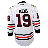 Reebok Jonathan Toews Chicago Blackhawks Jeunesse Youth NHL White Replica Maillot