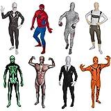 Original FUNSUIT - Disfraz de segunda piel (pegado al cuerpo) Músculos Carnaval Halloween - Talla S / M / L / XL / XXL [XL] - Varios diseños