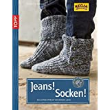 Jeans! Socken! Selbstgestrickt im Denim-Look