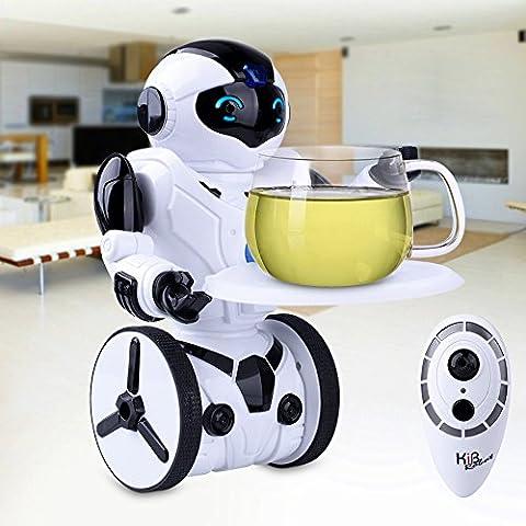 Kuman Robot Multifuncional de Control Remoto para Niños 2,4 GHz, Mini Robot Electrónico, 5 Modos de Funcionamiento, Baile, Boxeo, Conducir, Cargar, Detección de Gestos, Súper divertido Robot RC