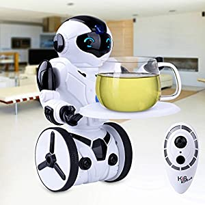 51jeWnnVBtL. SS300  - Kuman Robot Multifuncional de Control Remoto para Niños 2,4 GHz, Mini Robot Electrónico, 5 Modos de Funcionamiento, Baile, Boxeo, Conducir, Cargar, Detección de Gestos, Súper divertido Robot RC 1016A