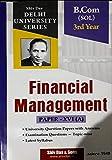 B.Com SOL 3rd Year Financial Management Paper XVI A Shiv das Delhi University Series For 2020 Exam