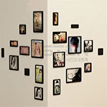 Aution House 10 PCS Marco Creativo DIY 3D de Pared de Madera Rectangular Pegatinas Foto de Bricolaje Colgantes de Papel de Fotos Marcos de Conjunto de Recopilación Foto - Collage de la Pared Marco de Foto - Decoración del Hogar ,de la habitación,del Salón (NEGRO 5*2)